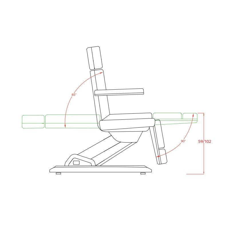 fauteuil esth tique maxi 3 moteurs la table d 39 examen. Black Bedroom Furniture Sets. Home Design Ideas