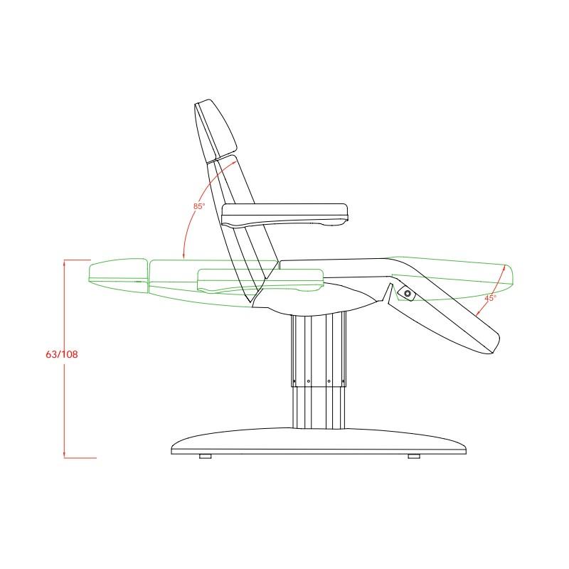 fauteuil esth tique vome 3 moteurs la table d 39 examen. Black Bedroom Furniture Sets. Home Design Ideas