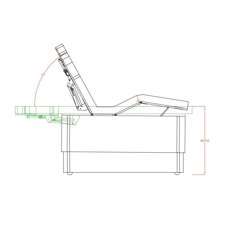 table haut de gamme hama 3 moteurs mat riel m dical la. Black Bedroom Furniture Sets. Home Design Ideas