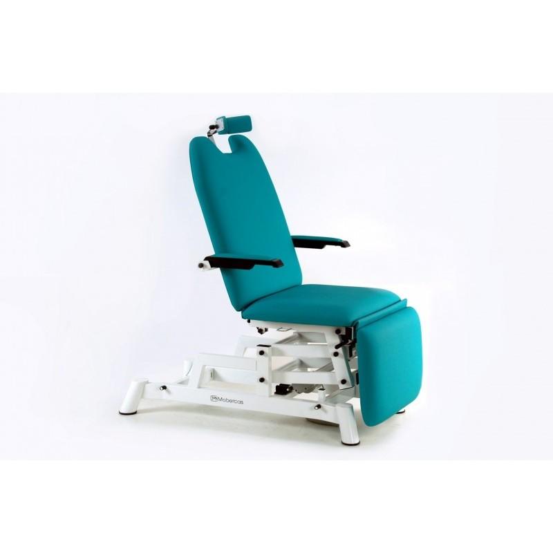 fauteuil ophtalmologie de 3 panneaux avec repose bras ajustables et repose t te ergonomique. Black Bedroom Furniture Sets. Home Design Ideas
