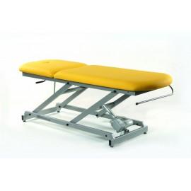 TABLE D'EXAMEN ÉLECTRIQUE AVEC PORTE-ROULEAUX ET BOUCHON FACIAL