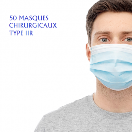 50 MASQUES CHIRURGICAUX TYPE IIR