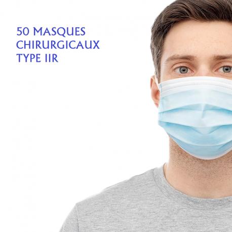 50 MASQUES CHIRURGICAUX TYPE IIR